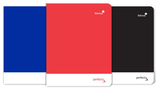 Silvine A5+ Soft Touch Perfecto Notebooks Perforated 75gsm 160pages Assorted [Pack 6]