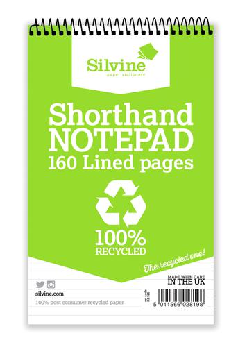 Silvine Recycled Shand Notebook PK12