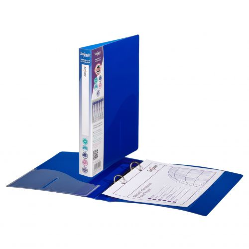 Snopake Superline Ring Binder 2 O-Ring A5 15mm Rings Electra Blue (Pack 10)