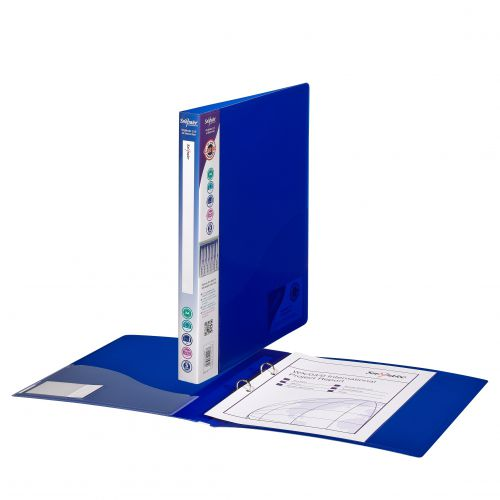 Snopake Superline Ring Binder 2 O-Ring A4 15mm Rings Electra Blue (Pack 10)