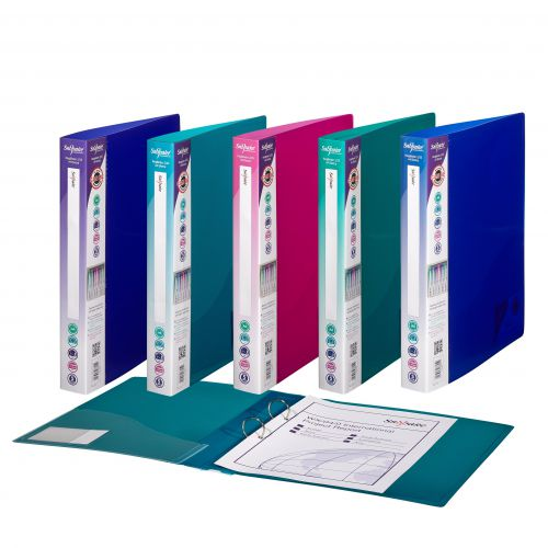 Snopake Superline Ring Binder 2 O-Ring A4 25mm Rings Electra Assorted (Pack 10)