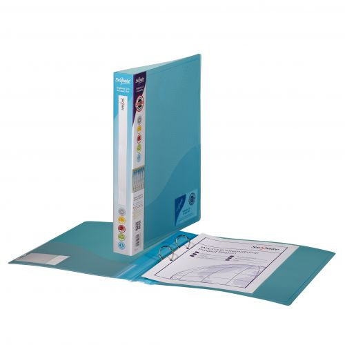 Snopake 2 Ring Binder 25mm A4 Blue (Pack of 10) 10180