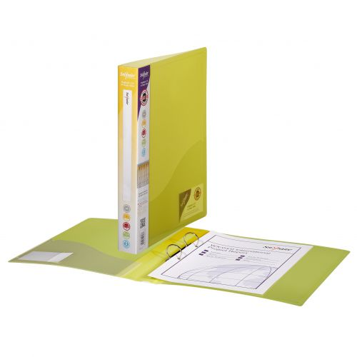 Snopake Ring Binder 2Ring A4 Classic Yellow (Pack 10) 10182