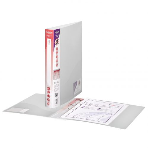 Snopake 2 Ring Binder 25mm A4 Clear (Pack of 10) 10183