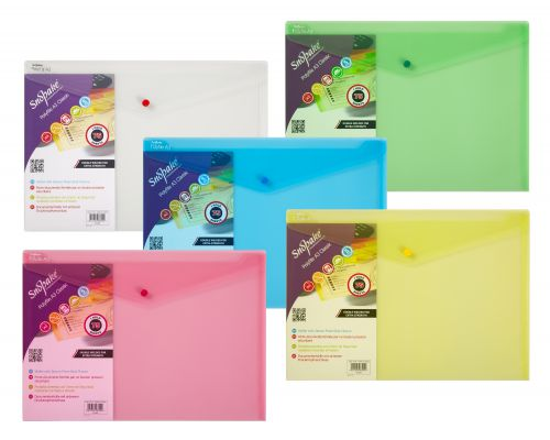 Snopake Polyfile Wallet A3 Classic Assorted (Pack 5) 10742