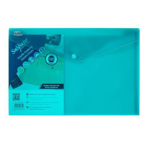 Snopake Polyfile Wallet F/S Electra Green (Pack 5) 11160
