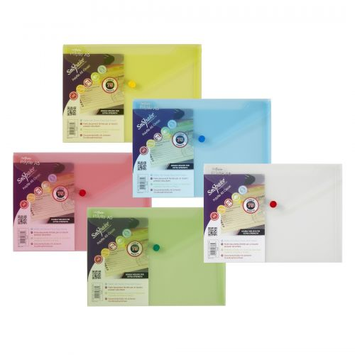 Snopake Polyfile Wallet File A5 Classic Assorted PK5