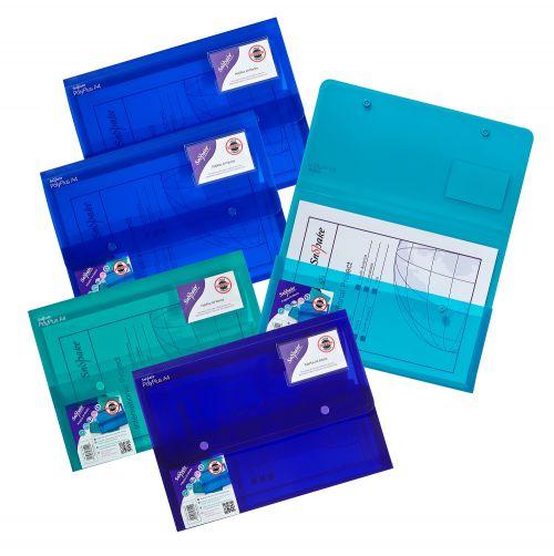 Snopake Polyplus Heavy Duty Wallet File Polypropylene A4 Assorted Colours (Pack 5)