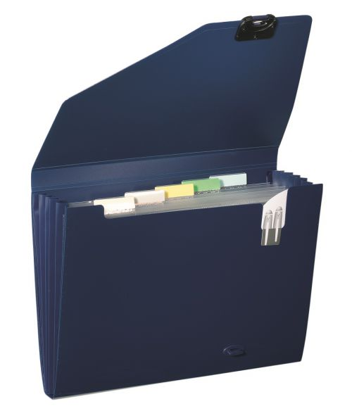 Snopake Organiser 6 Part A4 Dark Blue 11892
