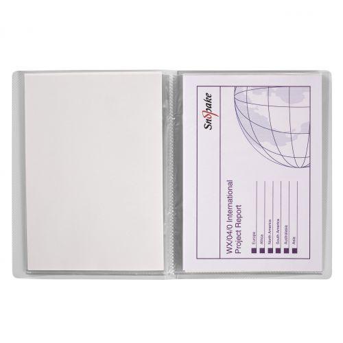 Snopake Superline Presentation Book 20 Pocket A5 Clear 11941
