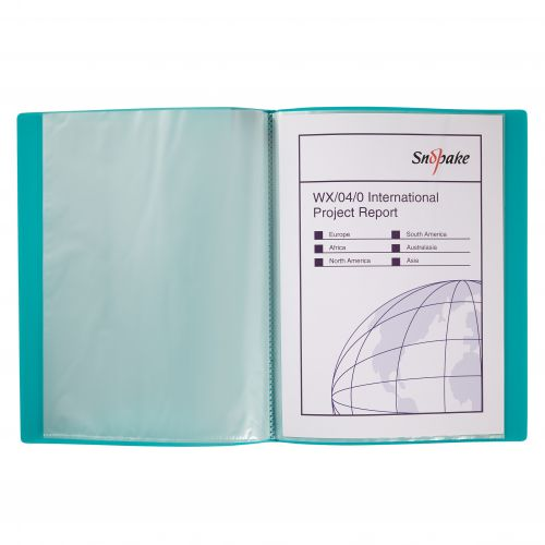 Snopake Display Book 10 Pockets A4 Electra Assorted (Pack 10) 12199