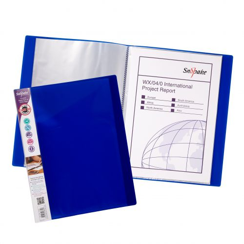 Snopake Display Book 16 Pockets A4 Assorted (Pack 10) 12209