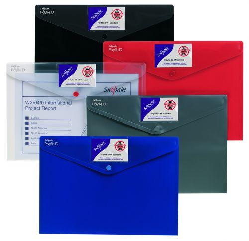 Snopake Polyfile ID Wallet A4 Standard Assorted (Pack 5) 12563