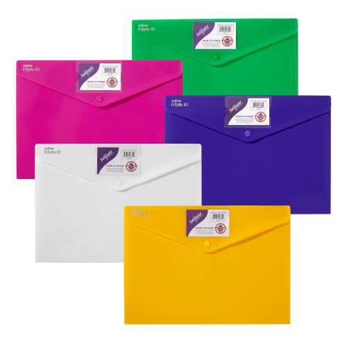 Snopake Polyfile ID Wallet File Polypropylene A4 Bright Assorted Colours (Pack 5)