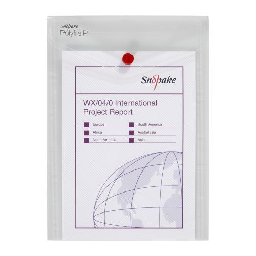 Snopake Polyfile P File Wallet Portrait A5 Clear (Pack of 5) 13280