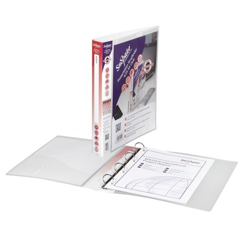 Snopake Presentation 4 A4 Ring Binder 25mm Clear 13368