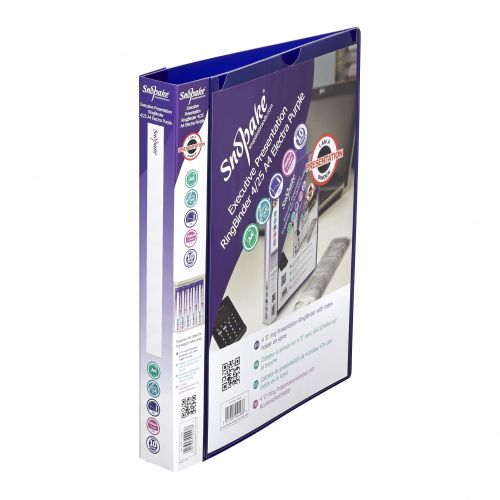 Snopake Executive Presentation Ring binder A4 Purple