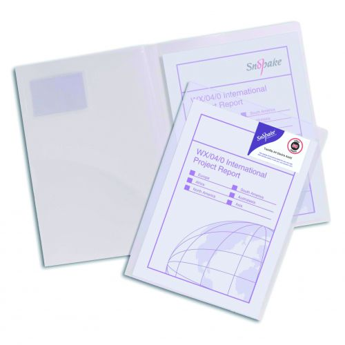 Snopake TwinFile Presentation File A4 Clear (Pack of 5) 14030