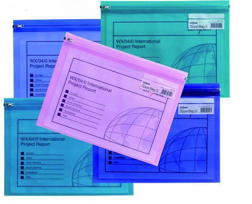 Snopake Zippa Bag S Polypropylene A4 180 Micron Electra Assorted Colours (Pack 25)