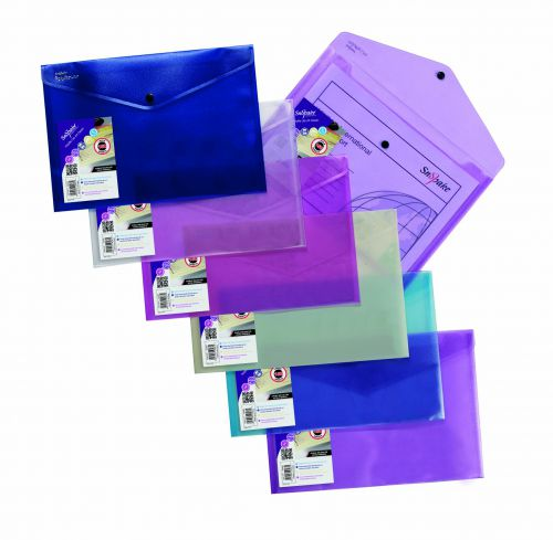 Snopake Polyfile Lite A4 Assorted (Pack of 5) 15411