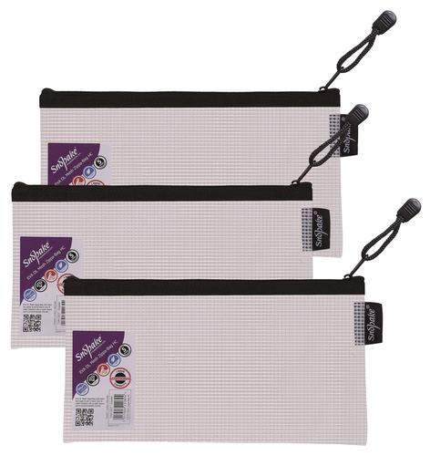 Snopake Eva Mesh Zippa Bag DL (Pack of 3) 15837