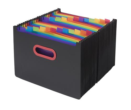 Rainbow & Black A4 24-Part Desk Expander