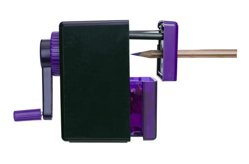 Swordfish Pointi Mechanical Pencil Sharpener Auto-stop 8mm dia. Desk Clamp Black/Purple Ref 40235