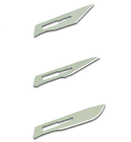 Scalpel Handle Metal Nickel Plated No.3 with 4 Blades