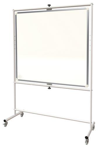 Non-Magnetic Mobile Pivot Writing Board - Landscape - 1500(w) x 1200mm(h)