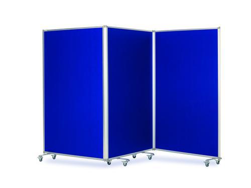 Mobile Tri Screen - Blue - 3600(w) x 1900mm(h)