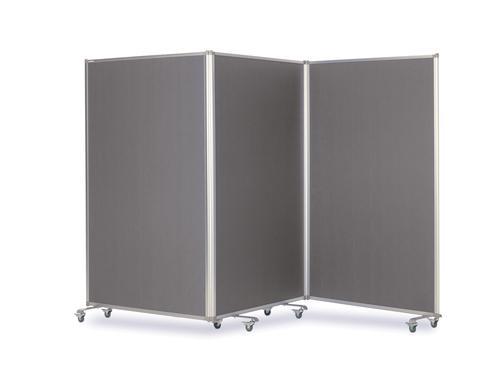Mobile Tri Screen - Grey - 3600(w) x 1900mm(h)