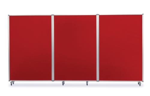 Mobile Tri Screen - Red - 3600(w) x 1900mm(h)