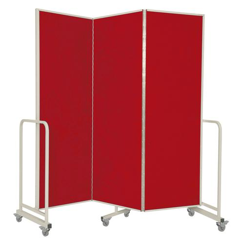 Mobile Insta-Wall 3 Panel - Red - 1800(w) x 1940mm(h)