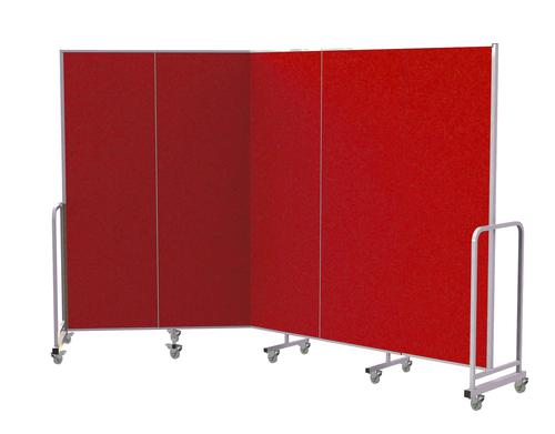 Mobile Insta-Wall 5 Panel - Red - 1800(w) x 1940mm(h)