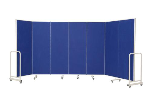 Mobile Insta-Wall 7 Panel - Blue - 1800(w) x 1940mm(h)