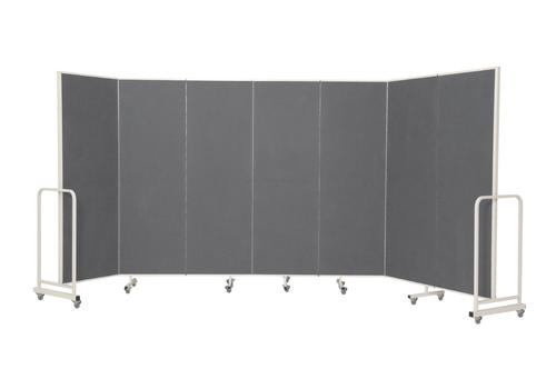 Mobile Insta-Wall 7 Panel - Grey - 1800(w) x 1940mm(h)