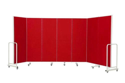 Mobile Insta-Wall 7 Panel - Red - 1800(w) x 1940mm(h)