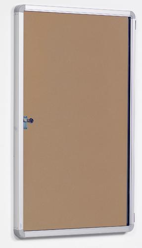 FlameShield Side Hinged Tamperproof Noticeboard - Natural - 600(w)x 900mm(h)