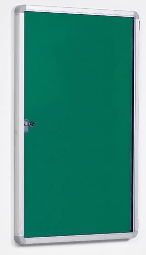FlameShield Side Hinged Tamperproof Noticeboard - Green - 900(w) x 1200mmm(h)