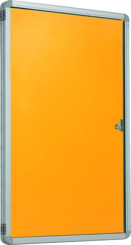 Accents FlameShield Side Hinged Tamperproof Noticeboard - Gold - 900(w) x 1200mmm(h)