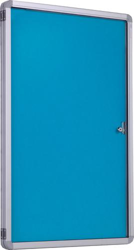 Accents FlameShield Side Hinged Tamperproof Noticeboard - Light Blue - 900(w) x 1200mmm(h)