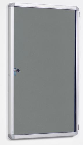 FlameShield Side Hinged Tamperproof Noticeboard - Grey - 1200(w) x 1200mm(h)