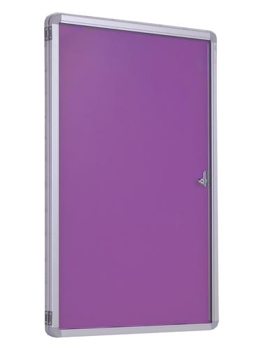 Accents FlameShield Side Hinged Tamperproof Noticeboard - Lavender - 1200(w) x 1200mm(h)