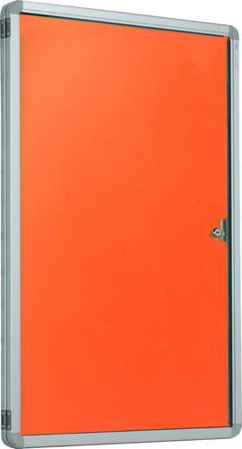 Accents FlameShield Side Hinged Tamperproof Noticeboard - Orange - 1200(w) x 1200mm(h)