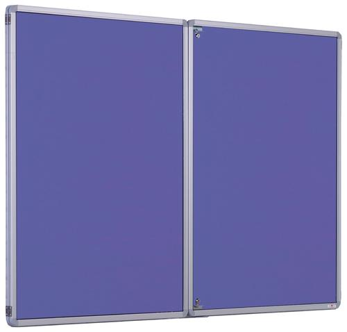 Accents FlameShield Side Hinged Tamperproof Noticeboard - Lilac - 1800(w) x 1200mm(h)