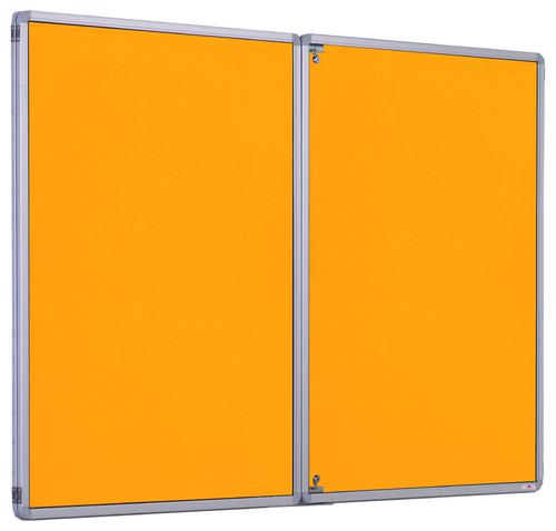 Accents FlameShield Side Hinged Tamperproof Noticeboard - Gold - 2400(w) x 1200mm(h)