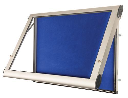 WeatherShield Wall Mounted Outdoor Showcase-Aluminium Frame-Blue Felt(12xA4)