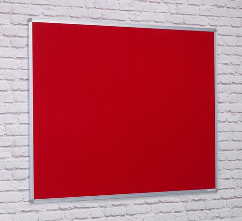 Aluminium Framed Noticeboard - Red - 900(w) x 600mm(h)