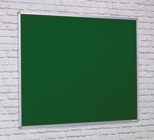 Aluminium Framed Noticeboard - Green - 2400(w) x 1200mm(h)