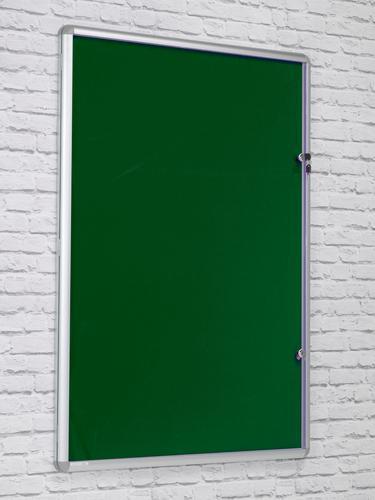Side Hinged Tamperproof Noticeboard - Green - 600(w)x 900mm(h)
